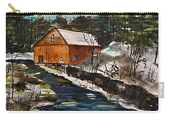 Carry-all Pouch featuring the painting Winter Afternoon by John Williams