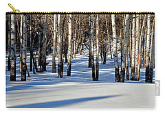 Carry-all Pouch featuring the photograph Winter Aspens by Jack Bell