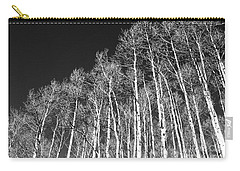 Carry-all Pouch featuring the photograph Winter Aspens by Roselynne Broussard