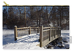 Winter At Creekside Carry-all Pouch