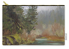 Winter At Swiftwater Carry-all Pouch