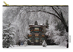 Winter At The Ahwahnee In Yosemite Carry-all Pouch by Carla Parris