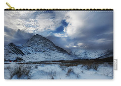 Winter At Tryfan Carry-all Pouch by Beverly Cash