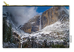 Winter At Yosemite Falls Carry-all Pouch