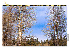 Winter Birch Carry-all Pouch