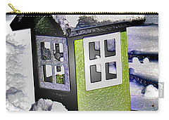 Carry-all Pouch featuring the photograph Winter Birdfeeder by Nina Silver