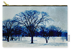 Carry-all Pouch featuring the photograph Winter Blues by Shawna Rowe
