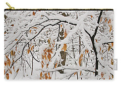Carry-all Pouch featuring the photograph Winter Branches by Ann Horn
