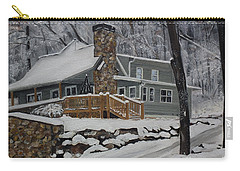 Winter - Cabin - In The Woods Carry-all Pouch