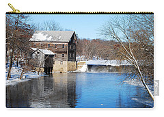 Winter Capture Of The Old Jaeger Rye Mill Carry-all Pouch