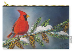 Winter Cardinal 2 Carry-all Pouch