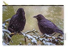 Winter Crows Carry-all Pouch by Ken Morris