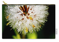 Carry-all Pouch featuring the photograph Winter Dandelion by Pedro Cardona