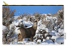 Winter Doe Carry-all Pouch by Marty Fancy