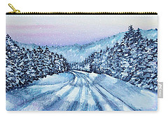 Winter Drive Carry-all Pouch by Shana Rowe Jackson