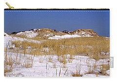 Carry-all Pouch featuring the photograph Winter Dunes Fire Island by Karen Silvestri