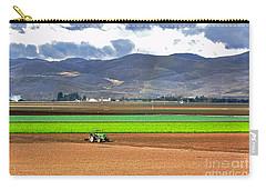 Winter Farm In California Carry-all Pouch by Susan Wiedmann