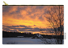 Winter Fire Carry-all Pouch by Jim Brage
