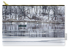 Winter Fishing - Wisconsin River Carry-all Pouch