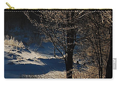 Carry-all Pouch featuring the photograph Winter Glow by Mim White