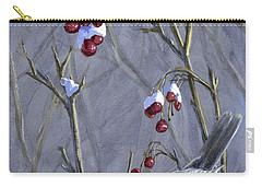 Winter Harvest 2 Chickadee Painting Carry-all Pouch