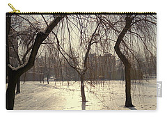 Willows In Winter Carry-all Pouch by Henryk Gorecki