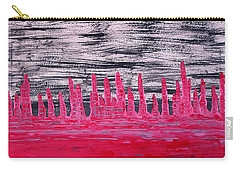 Winter Hoodoos Original Painting Carry-all Pouch
