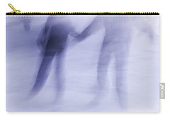 Carry-all Pouch featuring the photograph Winter Illusions On Ice - Series 1 by Steven Milner