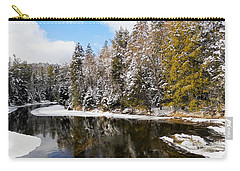 Carry-all Pouch featuring the photograph Winter Impressions ... by Juergen Weiss