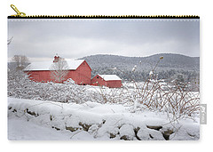 Winter In Connecticut Carry-all Pouch by Bill Wakeley