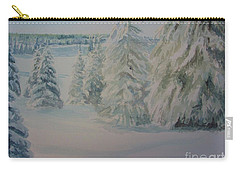 Winter In Gyllbergen Carry-all Pouch by Martin Howard