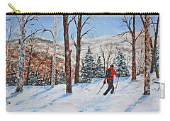 Winter In Vermont Woods Carry-all Pouch