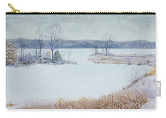 Winter Lake And Cedars Carry-all Pouch