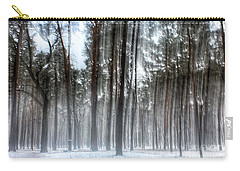 Winter Light In A Forest With Dancing Trees Carry-all Pouch