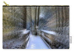 Winter Light On Bridge Carry-all Pouch