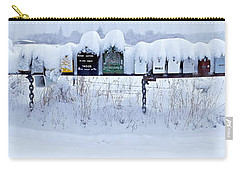 Carry-all Pouch featuring the photograph Winter Mailbox Panorama by Sean Griffin