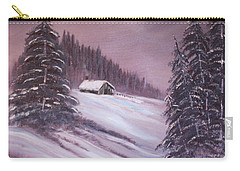 Carry-all Pouch featuring the painting Winter Moon by Janice Rae Pariza