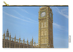 Winter Morning Big Ben Elizabeth Tower London Carry-all Pouch by Richard Harpum