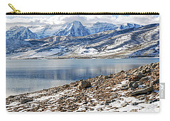 Winter Mt. Timpanogos And Deer Creek Reservoir Carry-all Pouch by Gary Whitton