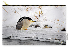 Winter Night Heron Carry-all Pouch