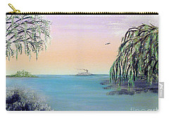 Winter On Lake Ponchartrain Carry-all Pouch by Alys Caviness-Gober