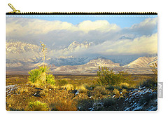 Winter In The Organ Mountains Carry-all Pouch by Jack Pumphrey