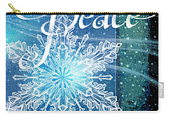 Winter Peace Greeting Carry-all Pouch