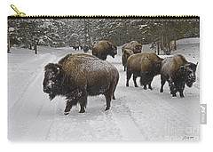 Winter Procession-signed Carry-all Pouch