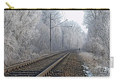 Winter Railroad Carry-all Pouch