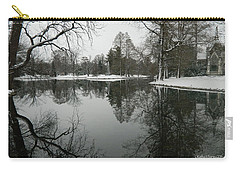 Carry-all Pouch featuring the photograph Winter Reflections 2 by Kathy Barney