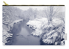 Carry-all Pouch featuring the photograph Winter River by Liz Leyden