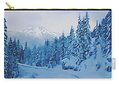Carry-all Pouch featuring the painting Winter Road by Sophia Schmierer