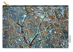 Carry-all Pouch featuring the photograph Winter Robin by Kathy Bassett