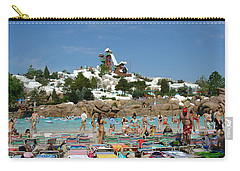 Carry-all Pouch featuring the photograph Winter Shore Line by David Nicholls